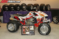 Coburn broke his own Pikes Peak record for the third straight year riding aboard his K&N sponsored Hoosier/Spark's Racing Honda TRX 450R Big Bore ATV.