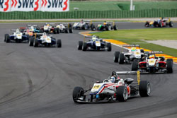 Lewis won his first Formula 3 Euro Series race leading from start to finish