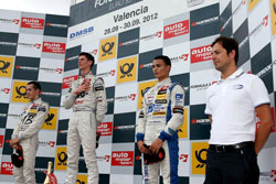 Lewis was clearly a proud American atop the podium at the Formula 3 Euro Series in Valencia