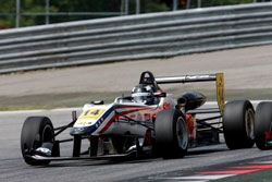 At the Red Bull Ring Spielberg Lewis and the Prema Powerteam finished second despite a series of pre-race challenges.