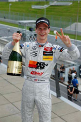 After his second place finish at the Red Bull Ring Lewis is either signaling his results or requesting a second bottle.