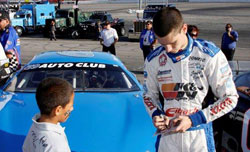 K&N's Michael Lewis was a fan favorite during the drivers autograph session prior to the start of the two 30-lap Late Model feature at Toyota Speedway.