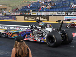 Michael Miller at the 32nd annual Mopar Mile-High NHRA Nationals at Bandimere Speedway