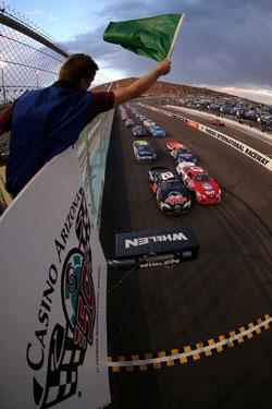 Finish line at Phoenix International Raceway