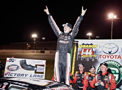 Michael Self wins third NASCAR K&N Pro Series West race in a row at Lebanon I-44 Speedway
