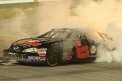 Michael Self celebrates victory of NASCAR K&N Pro Series  race Casey's General Stores 150