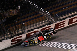Michael Self takes the checkered flag at NASCAR K&N Pro Series  race at Iowa Speedway