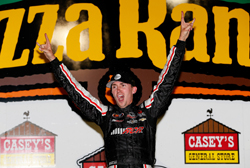 NASCAR K&N Pro Series  race at Iowa Speedway puts Michael Self in victory lane