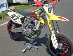 RMZ 450 Suzuki ready to ride with K&N products in Round 4 of the UEM Supermoto Championship Series in Pas de la Casa, Andorra