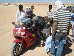 No man's land between Western Sahara and Mauritania
