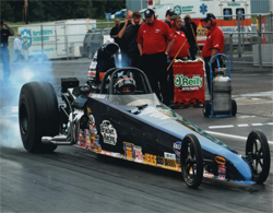 2010 American Race Cars dragster with K&N products is a favorite of champion racer Luke Bogacki