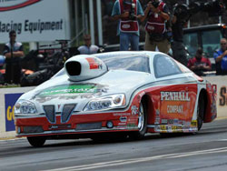 Mike Edwards and his Penhall/K&N/Interstate Batteries Pontiac