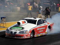 Mike Edwards' Penhall/K&N Pontiac GXP at Bandimere Speedway