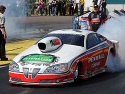 Mike Edwards at the 43rd annual Tire Kingdom NHRA GatorNationals in Gainesville, Florida