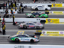 K&N's Mike Edwards (2nd from top) at 4th annual Dollar General NHRA Four-Wide Nationals