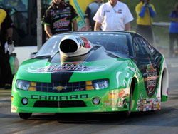 Interstate Batteries/K&N Chevy Camaro ran 210.57 to fully stamp his mark on the top qualifying spot