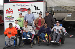 Mike Edwards takes helps to provide a little better quality of life for those less fortunate and he does it before each and every NHRA National event