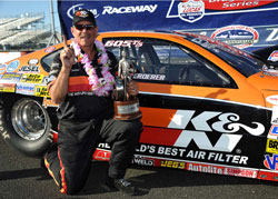 Mike Ferderer grabbed his second NHRA Top Sportsman National Event Wally