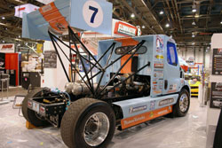 Mike Ryan's Freightliner race truck at the 2011 SEMA Show