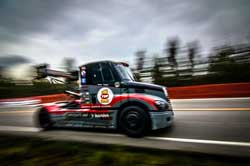 Mike Ryan has competed in 16 of the last 17 Pikes Peak International Hill Climbs from the seat of his Freightliner semi-truck.