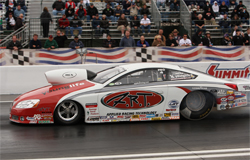 Pro Stocker Mike Edwards' Pontiac GXP has climbed into the No. 2 spot in the 2009 K&N Horsepower Challenge