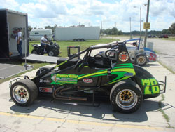 Number 78 Wingless Sprint driven by Mickey Kempgen