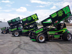 Miller Motorsports runs with three Sprint car drivers, Tommy Nichols, Mickey Kempgen and Dustin Perez