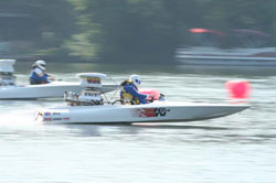 Milton Tolen's Comp Flat Boat holds the world records for in both top speed and ET