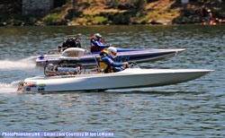 Milton Tolen got involved in Drag boat racing originally as a young spectator, then later purchased a Flat bottom, mainly for lake use.