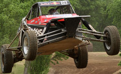 Mitchell DeJong drivers the black and red number 24 Buggy in The Off Road Championship