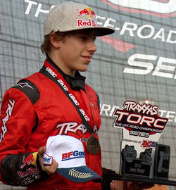 Mitchell DeJong earned the title of the youngest person to ever win a Traxxas TORC Series Championship