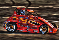 Final USAC California Pavement Ford Focus Car Series Event podium win for Michael Lewis during 69th Lucas Oil Turkey Night Grand Prix at Toyota Speedway in Irwindale, California