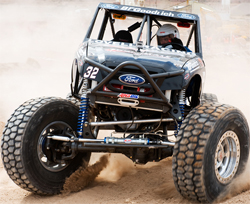 Brad and Roger Lovell had consistent runs in their No. 32 Ford at Moab, Utah, photo by Chad Jock Photography