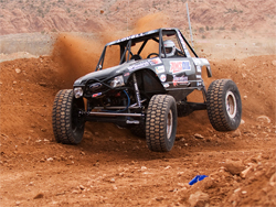K&N filters kept debris out of the engine on the Lovell Brothers Ford at the XRRA race in Moab, Utah, photo by Chad Jock Photography