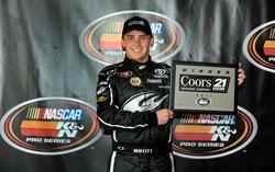 Brett Moffitt wins the season opening Kevin Whitaker Chevrolet 150