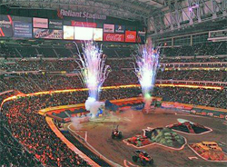 Opening Ceremonies at Monster Jam Freestyle Competition in Texas, photo by Kenny Lau