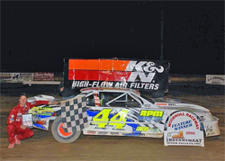 Winner's Circle for Street Stock Racer Russell Morseman at Woodhull Raceway in New York