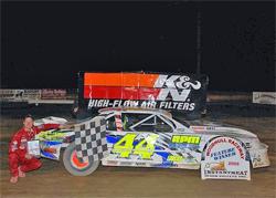 Winner's Circle for Street Stock Racer Russell Morseman at Woodhull Raceway in New York