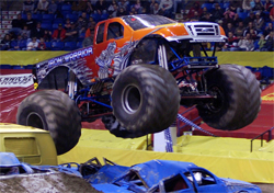 Iron Warrior propels through the air at Wachovia Arena in Pennsylvania