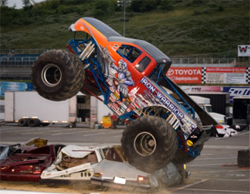 Iron Warrior flies the K&N Flag in Monster Truck Competition, photo by Matt Rowland