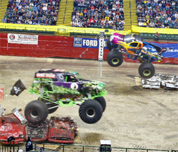 Monster Jam had lots of high-flying action at the Nutter Center in Dayton, Ohio