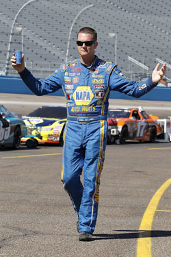 Eric Holmes won for the first time at Phoenix International Raceway on April 8