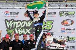 Brazil's Nelson Piquet Jr. wins Widow Wax 125 at Bristol Motor Speedway in Tennessee