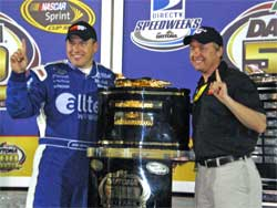 Daytona 500 Champion Ryan Newman and K&N's Charlie Maier