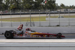 The Folk family racing team has shared great success at the IHRA Nitro Jam event, Brian and Nick each won in 2008, and Nick won again this year.