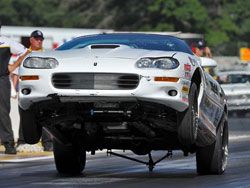 NHRA Stock Car Racer Nick Folk at 30th annual Lucas Oil NHRA Nationals