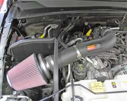 57-1554 K&N air intake system installed in 2007 Dodge Nitro