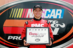 Cale Conley walked away with the Coors Light Pole Award at the Drive Sober 150 at Dover International Speedway