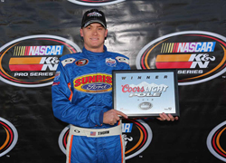 Derek Thorm took home the Coors Light Pole Award at the Napa Auto Parts 150 Race at the Napa Speedway