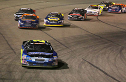 Greg Pursley takes the checkered flag in NASCAR K&N Pro Series West race at Napa Speedway
